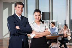 Smart Businesspeople Smiling Stock Image