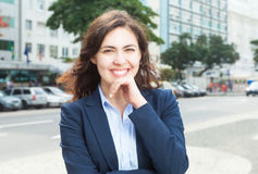Smart businesswoman in the city Stock Image