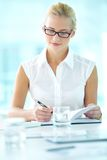 Smart businesswoman Royalty Free Stock Photos