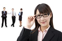 Smart businesswoman and success team Royalty Free Stock Photography