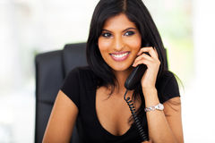Smart businesswoman telephone Royalty Free Stock Photos