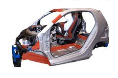 Smart Car Chassis Body Frame Detail Isolated stock images