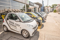 Smart car dealership Royalty Free Stock Images