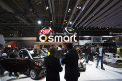 Smart car exhibit at 2010 Autoshow Royalty Free Stock Photography