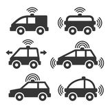 Smart Car Icon Set Stock Images