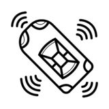 Smart Car Icon royalty free illustration