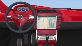 Smart car navigation interface in original design stock footage