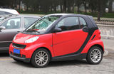 Smart Car. In parking area Stock Photos