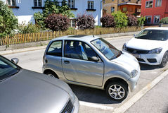 Smart car in the parking lot Stock Photo