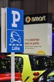 Smart car parking sign Royalty Free Stock Image