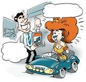A smart car salesman and a customer Stock Photography