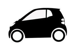 Smart car silhouette Stock Photos