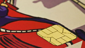 Smart card. Photo of a smart card with colors Royalty Free Stock Photos