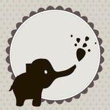 Smart card con un elefante ΠFotografie Stock Libere da Diritti