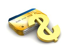 Smart card with dollar sign Stock Photography