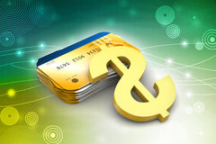 Smart card with dollar sign Royalty Free Stock Photos