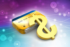Smart card with dollar sign Stock Photo