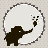 Smart card with an elephant  � Royalty Free Stock Photos