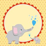 Smart card with an elephant  � Royalty Free Stock Photography