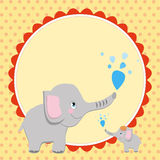 Smart card with an elephant  ΠRoyalty Free Stock Image