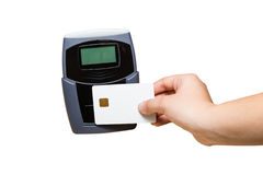 Smart Card Pay Stock Photography