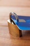 Smart card protected with metallic lock Stock Photos