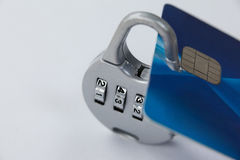 Smart card protected with number lock Royalty Free Stock Image