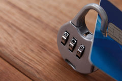 Smart card protected with number lock Stock Photography