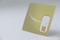 Smart card su fondo bianco Immagini Stock Libere da Diritti