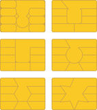 Smart card. Vector pack of various smart card designs Stock Photo
