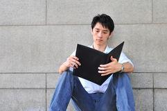 Smart Casual Looking Asian Man Stock Photography