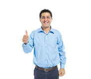 A Smart Casual Man Giving a Thumbs Up stock photos