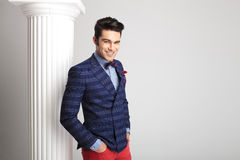 Smart casual man smiling at the camera Royalty Free Stock Photography