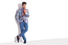 Smart casual man standing in white studio Royalty Free Stock Photo