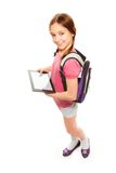 Girl with digital tablet computer Royalty Free Stock Images