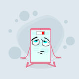 Smart Cell Phone Pink Cartoon Character Low Stock Image