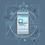 Smart Cell Phone Telephone Abstract Triangular. Background Vector Illustration Royalty Free Stock Images