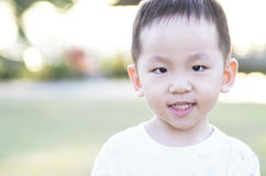 Smart child looking ahead Stock Images