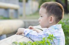 Smart child thinking Royalty Free Stock Image