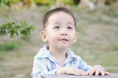 Smart child thinking Royalty Free Stock Photos