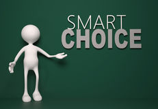 Smart choice concept. 3d people - man, person and smart choice concept Royalty Free Stock Photos