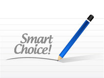 Smart choice message illustration design Royalty Free Stock Image