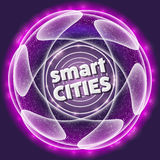 Smart cities icon. Vector abstract object with smart cities icon stock illustration