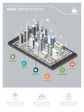Smart city and augmented reality vector illustration