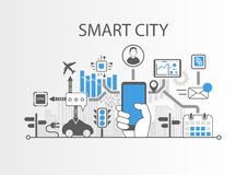 Smart city  background Stock Photography