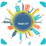 Smart City and Cloud computing technology Stock Images