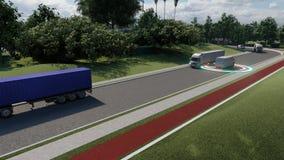 Smart city concept. Business system concept. Software concept illustration. Tracking service. Intelligent auto