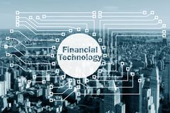 The smart city concept with fintech financial technology concept. Smart city concept with fintech financial technology concept Royalty Free Stock Photos