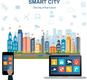 Smart city concept and internet of things Royalty Free Stock Photography