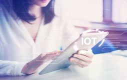 Smart city concept. Internet of Things. Information Communication Technology.  royalty free stock photos